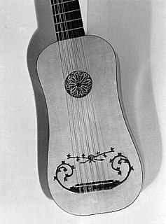Vihuela guitar-shaped string instrument from 15th and 16th century Spain, Portugal and Italy, usually with five or six doubled strings