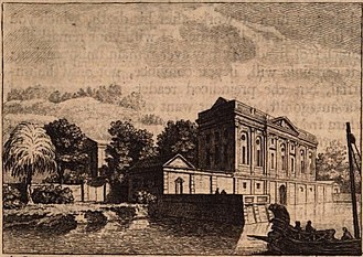 Pliny's Comedy and Tragedy villas - Image: Villa Commedia on Lake Como by Samuel Wale