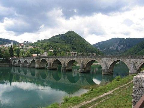 Mehmed Paša Sokolović Bridge, 16th-c. Mimar Sinan's Ottoman bridge & UNESCO site in Višegrad, Bosnia.
