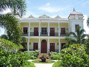 French immigration to Puerto Rico - French provincial-style mansion in Moca, Puerto Rico.