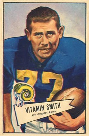 Vitamin Smith - Smith on a 1952 Bowman football card