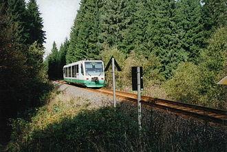 Die Länderbahn - A Vogtlandbahn RegioSprinter near the Schöneck Ferienpark halt.
