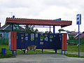 Volodarsk. At bus stop.jpg