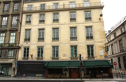 House in Paris where Voltaire died Voltaire-last-house.jpg