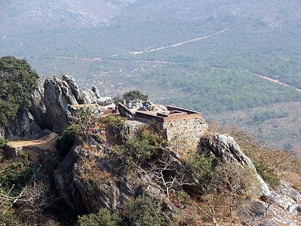 A view of Vulture Peak, Rajgir, India where the Atanatiya Sutta was held Vulturepeak1.jpg