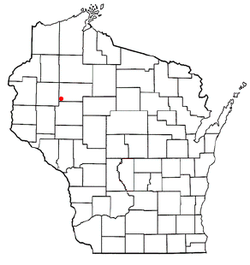 Location of Rusk, Rusk County, Wisconsin