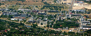 Adlershof - Aerial view of the WISTA Science and Technology Park in Adlershof