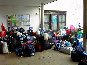 The luggage of pilgrims.