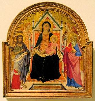 Silvestro dei Gherarducci - Don Silvestro dei Gherarducci's painting of Madonna and Child, tempera on panel