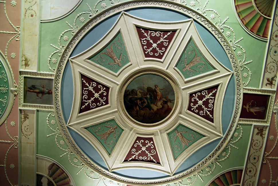 WLA vanda Robert Adam Ceiling roundel with octagon and Apollo and Horae