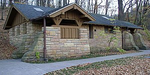 Minneopa State Park - Example of a WPA/Rustic Style building in the park