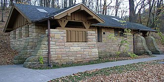 Mankato, Minnesota - Latrine building built by the Works Progress Administration in 1939 in Minneopa State Park