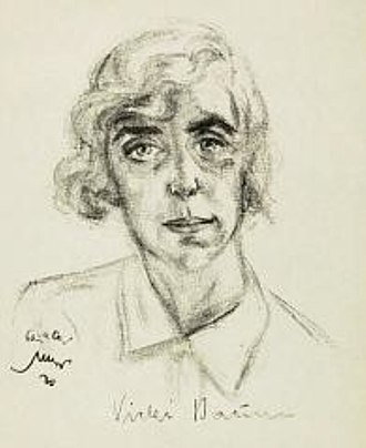 Vicki Baum - Drawing of Vicki Baum by Emil Stumpp, 1930.