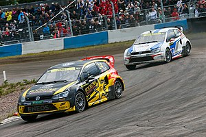2014 World RX of Finland - Tanner Foust and Toomas Heikkinen
