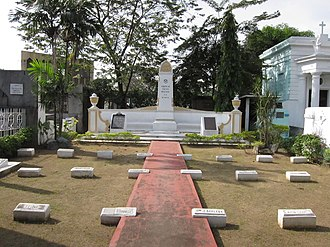 Thomasites - Several Thomasites are interred at the American Teachers Memorial, a special plot inside the Manila North Cemetery.  The current memorial was erected in 1917.