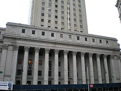 Thurgood Marshall United States Courthouse at 40 Centre Street.