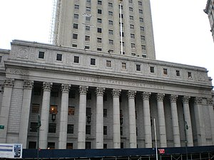 Smith Act trials of Communist Party leaders - The 1949 trial was held in the Foley Square federal courthouse in Manhattan.