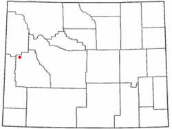 Location of Bondurant, Wyoming