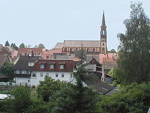 Kraichgau - The prominent Catholic parish church of Waibstadt