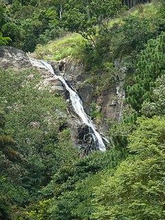 Surathali Falls waterfall in Uva Province, Sri Lanka