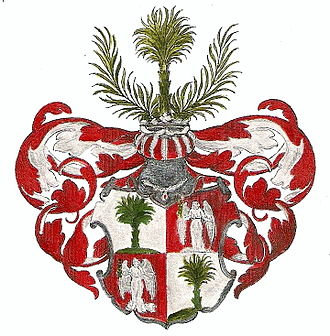 Justus Henning Böhmer - coats of arms of the count palatine Justus Henning Boehmer