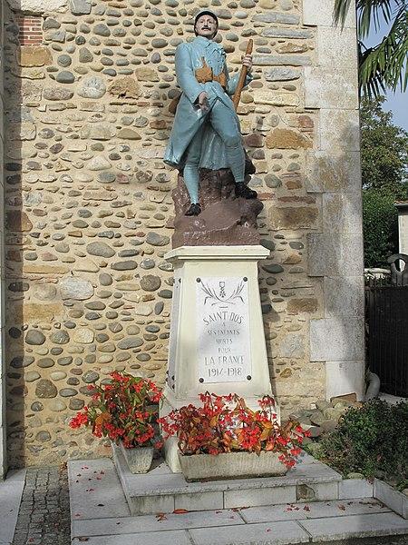 War monument of Saint-Dos (Pyrénées-Atlantiques, France)