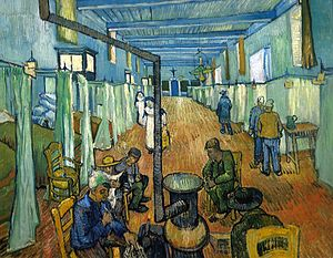 Death of Vincent van Gogh - Ward in the Hospital in Arles, Vincent van Gogh (1889)