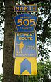 Washington's Army 1776 Retreat Route sign, Englewood, New Jersey.jpg