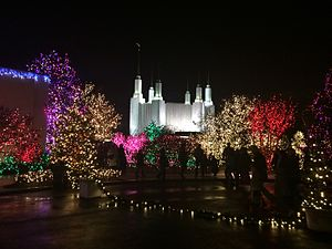Washington D.C. Temple - Festival of Lights at the Washington D.C. Mormon Temple, 2014