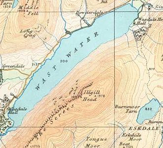 Wast Water - Map of 1925