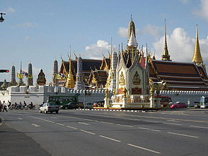 Wat Phra Kaew in Bangkok (as seen from northea...
