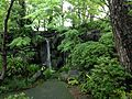 Waterfall of Momijiyama Garden in Sumpu Castle Park.JPG