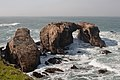 Waterscape with massive arches and stone outcroppings of Miguelito shale, Point Buchon.jpg