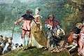Watteau, pellegrinaggio all'isola di citera, 1717, 06.JPG