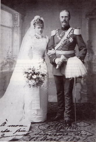 Louise d'Orléans, Princess of Bavaria (1869–1952) - Image: Wedding Louise d'Orléans Alfons von Bayern