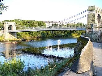 Wellington Suspension Bridge - The bridge crosses the river between Craiglug and Ferryhill