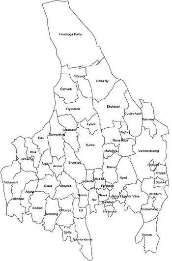 Karta Arvika Kommun.Varmland Wikipedia