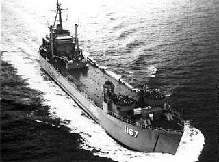 USS <i>Westchester County</i> (LST-1167) US Navy tank landing ship built in 1952