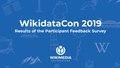 WikidataCon19 Participant Survey Report.pdf