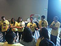 Wikimania 2015-Thursday-Volunteers (3).jpg