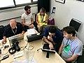 Wikimedia CH team at work MAMCO Geneva 003.jpg