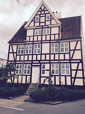 Wilders Plads - The old, half-timbered workshop building