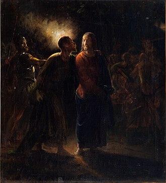 Kiss of Judas - Image: Wilhelm Marstrand, Judaskysset, udateret, 0122NMK, Nivaagaards Malerisamling