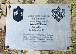 Photo of Robert Willance brushed metal plaque