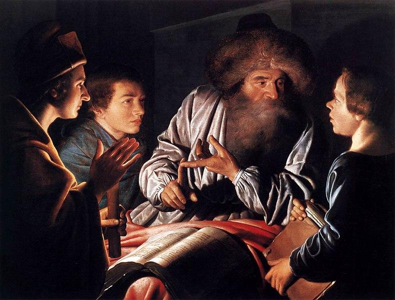 File:Willem van der Vliet - Philosopher and Pupils - WGA25281.jpg