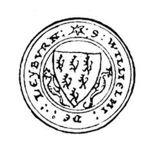 Roger de Leybourne - Seal of William de Leyburn, son of Roger, appended to the Barons' Letter, 1301