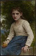 William Adolphe Bouguereau - Girl with an Apple - 1955.8 - Dallas Museum of Art.jpg