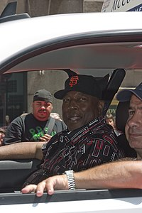 Willie McCovey - Rubenstein - 2008 All Star Game Red Carpet Parade.jpg