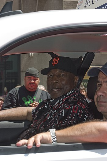 Baseball player Willie McCovey. © Rubenstein, ...