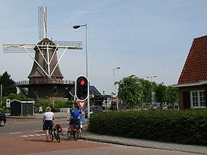 Sloten, Amsterdam - Molen van Sloten or Sloten mill, February 2008